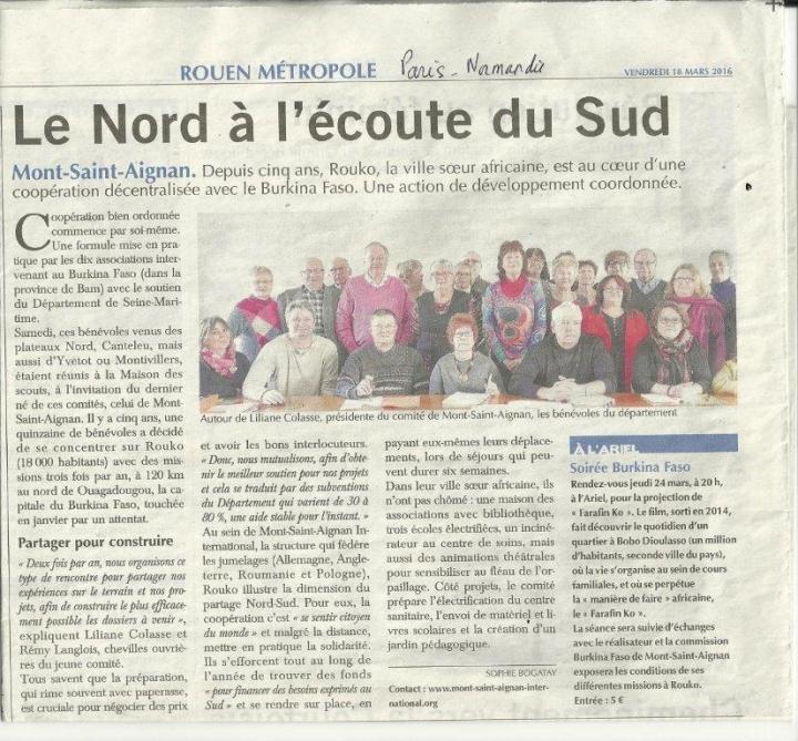 Article Paris Normandie_ 18 mars 16