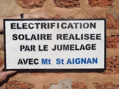 Panneau sur l'électrification