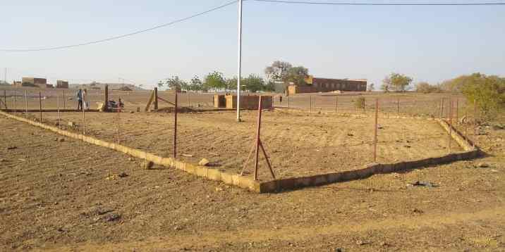 La clôture est prête à poser